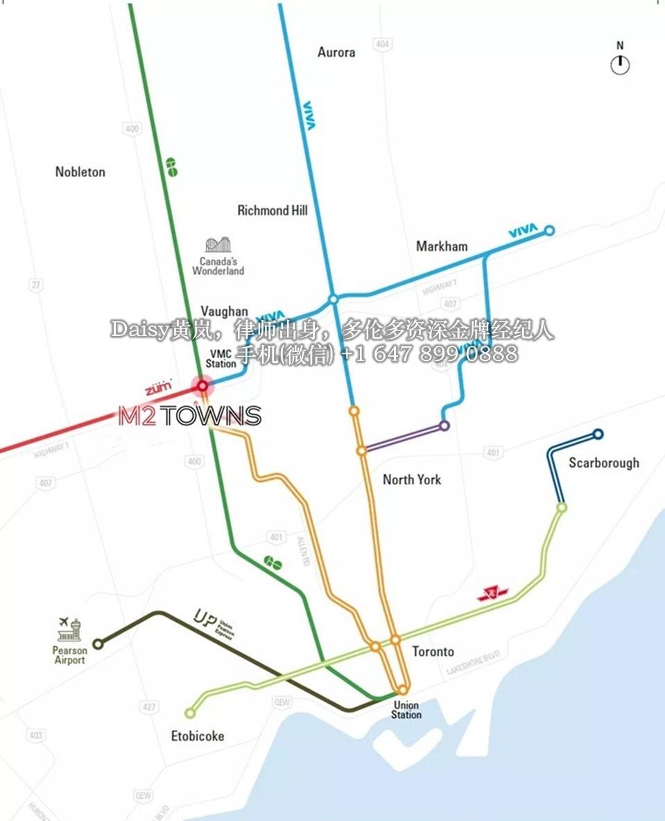 大多伦多旺市中心M2 Towns镇屋Menkes铂金一级代理 多伦多买房 多伦多楼花专家